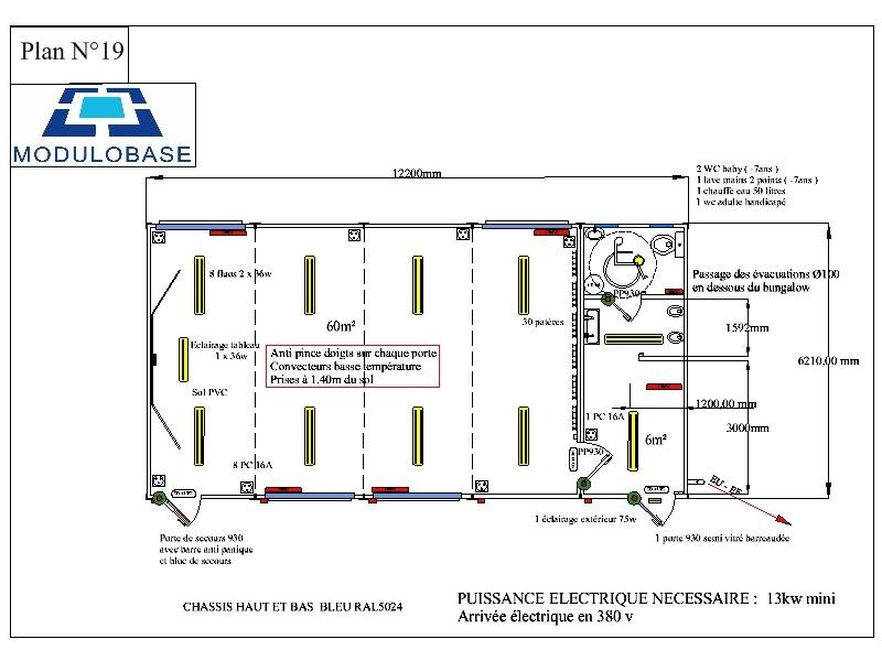 Wc Handicapé Plan : Modulobase construction modulaire préfabriquée